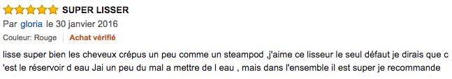 commentaire Peigne brosse lisseur vapeur Besmall